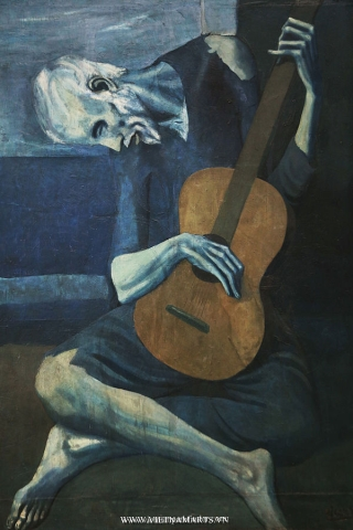 The Old Guitarist (1903) của Picasso