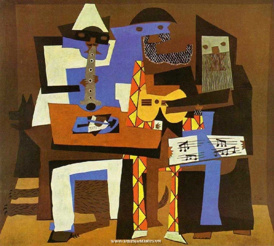 The Three Musicians (1921) của Picasso