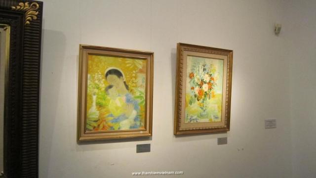 Tranh của cố họa sĩ lê phổ tại triển lãm tranh HS đông dương tại Hà Nội Năm 2015