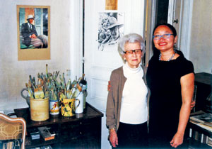 bà Paulette Vaux - vợ họa sĩ Lê Phổ